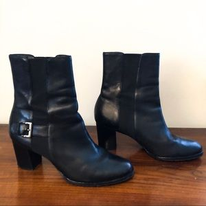 Shoes - Cole Haan Black Genuine Leather Booties